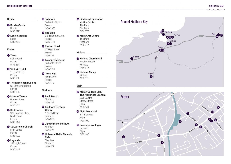 Festival Venues Map