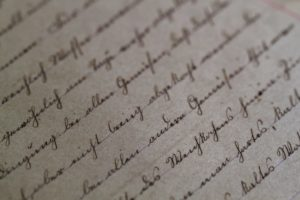 Blurred Cursive, Old Fashioned Writing